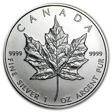 2009 1 oz Silver Canadian Maple Leaf Coin - SKU #44578