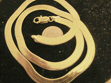 bling gold plated 4 mm 20in herringbone chain hip hop necklace thug pimp gang GP