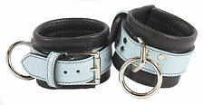 """Wrist Restraints Shades of Baby Blue Genuine Leather """"NEW"""""""