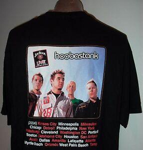JIM BEAM LIVE HOOBASTANK 2004 USA CONCERT SERIES MEN'S XL BLACK T-SHIRT, NEW!
