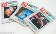Nos - 2002 Tv Guide Star Trek Nemesis Patrick Stewart Hologram Cover 3 Book Set