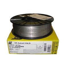 ESAB V4A Edelstahl Schutzgas Schweißdraht MIG/MAG 0,8 mm 5 kg D200 CrNi VA 316