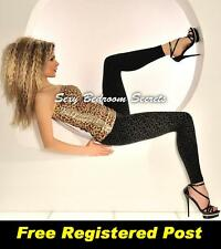 LEGGINGS Black Leopard Design