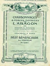 FRANCE ARAGON COAL COMPANY stock certificate
