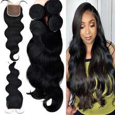 CLEARANCE 3-4 Bundles or Closure Sew in 100% Virgin Human Hair Full Head 8-30