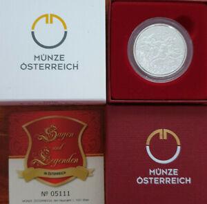 Österreich 2010 10€ Karl der Große im Untersberg Silber PP