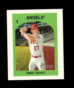 MIKE TROUT MINI - 2021 TOPPS HERITAGE '72 VENEZUELA STAMPS #1 !