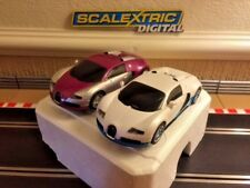 Scalextric Digital BUGATTI VEYRON Twin Pack entièrement entretenue & New Tresses Très bon état