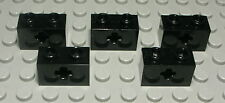Lego Technic Lochstein mit Kreuzloch 1x2 Schwarz 5 Stück                  (1823)