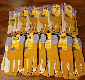 Lot of 25 Pair of Quality and Majestic Leather Work Gloves