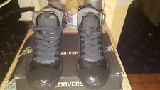 Black converse  Ankle  Boots new with Box  junior size 3.5