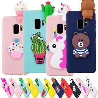 3D Cute Animal Thin Soft Silicone Case Cover For Samsung Galaxy S9 J3 J5 J7 2017
