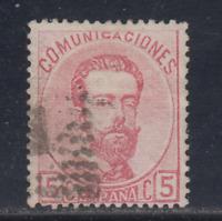 ESPAÑA (1872) USADO SPAIN - EDIFIL 118 (5 cts) AMADEO I - LOTE 1