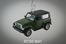 2013 Commando Green Jeep Wrangler 2 Door Hard Top Custom Christmas Ornament 1/32