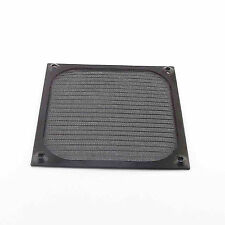 Metal Dustproof Filter Dust Guard 12cm 120mm Black PC Case Cooler Fan