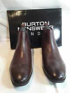 Mens Brown Leather Chelsea Boots Size UK 10 BNIB
