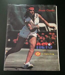Vintage 1977 WTT Tennis Program Cleveland Nets vs. Los Angeles Strings