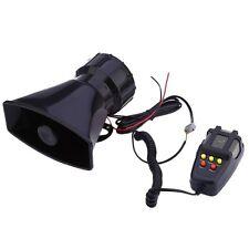 12V Car Motorcycle Alarm Warning Siren Horn Megaphone 5 Tone Loud Speaker + MIC