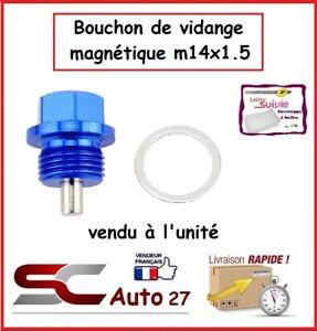 bouchon  vidange magnétique auto bleu pour peugeot,ford,fiat,jeep,rover M14x1.5