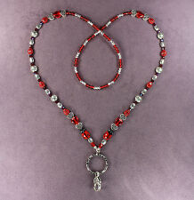 LUCKY LADYBUG CELTIC HEART LANYARD NECKLACE ID Badge Holder Clip Key Ring Beads