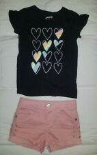 Girl's Lot of 2 Short Sleeve T-Shirt & Shorts Outfit Set Mixed Lot Size 5