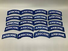 US Army 82nd Airborne Tab Patch Lot x20 Blue & White Merrowed Edge A466