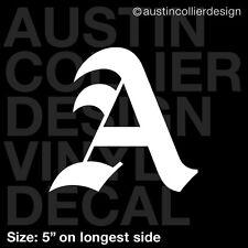 "5"" LETTER ""A"" vinyl decal car truck window laptop sticker - initials name"
