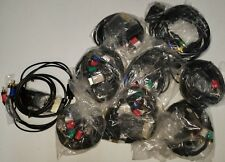 Lot of 9- 6 Ft. Multi- Component/Composite Cable for Xbox 360, PS2/PS3, Wii