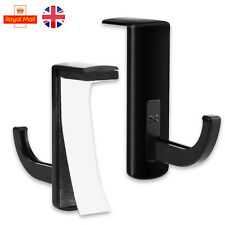 Black Headphone Headset Hanger Holder Wall PC Monitor Stand Hook Sticky New UK