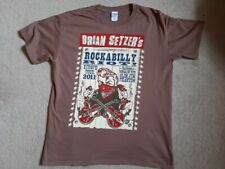 Brian Setzer Tour T Shirt Rockabilly Riot 2011 Unworn  Size L Stray Cats