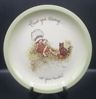 """1972 Vintage Holly Hobbie Plate Collectors Edition Count Your Blessings 10 3/4"""""""