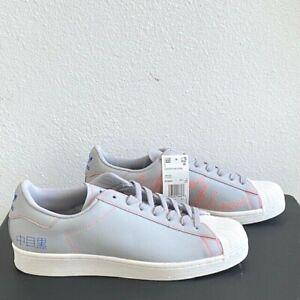 Adidas Superstar Pure Men's Size 10.5 Grey Tokyo Embroidered Kanji FV2834 NEW
