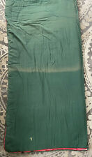 Vintage Coleman Sleeping Bag Green with Red Flannel Game Bird Lining