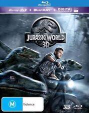 JURASSIC WORLD 2D & 3D New Blu-Ray + UV CHRIS PRATT BRYCE DALLAS HOWARD ***