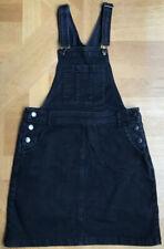 Next Dugaree Dress Black Denim UK 10