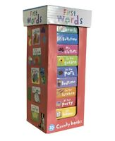 Early Learning My First Words 10 Chunky Books Tower - GIFT