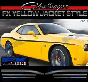2008 - 2019 Dodge Challenger Yellow Jacket Factory Style Stripe Kit #1 Stripes