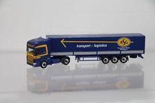"Herpa Scania 144 Topline Sattelzug ""ASG European Road Transport"" /H3098"