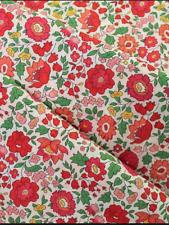 Liberty Remnant 100 x 70 cm D'anjo Tana Lawn RRP £22.50/m Pink Red Floral Danjo