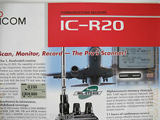 Icom-r20 (Genuino folleto sólo).......... radio_trader_ireland.