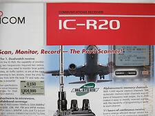 Icom-r20 (Genuino folleto sólo).......... radio_trader_ireland.