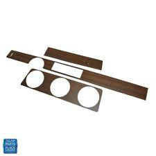 71 Cutlass 442 Dash Vinyl Wood Kit w/ Metal Backing Coupe w/ Radio Delete Walnut