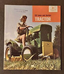 John Deere '110 Lawn & Garden Tractor' Brochure