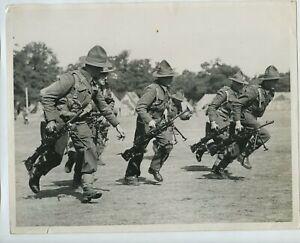 New Zealand Expeditionary Force Bren Gun Unit Trains 1940 Press Photo