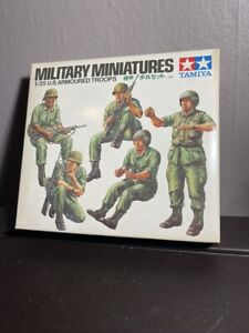 Vintage New Tamiya 1/35 Scale Military Miniatures US Armoured Troops