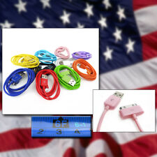 10-COLOR 6FT USB TO 30PIN CABLES DATA SYNC CHARGER SAMSUNG GALAXY TAB P7500 7510