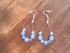 Handcrafted Light Blue Alexandrite Gemstone Sterling Silver Earrings