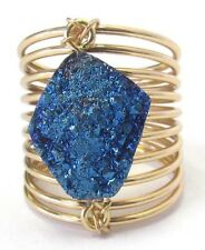 NEW DRUZY COIL WRAP GOLD RING FOUR COLORS