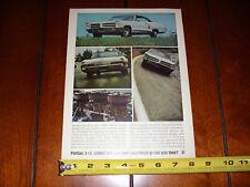 1966 PONTIAC 2+2 - ORIGINAL VINTAGE AD 421 TRI-POWER