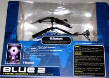 BLUE 2 BLUETOOTH HELICOPTER 3 CHANNEL GYRO STABILIZATION USING MOBILE DEVICE NEW
